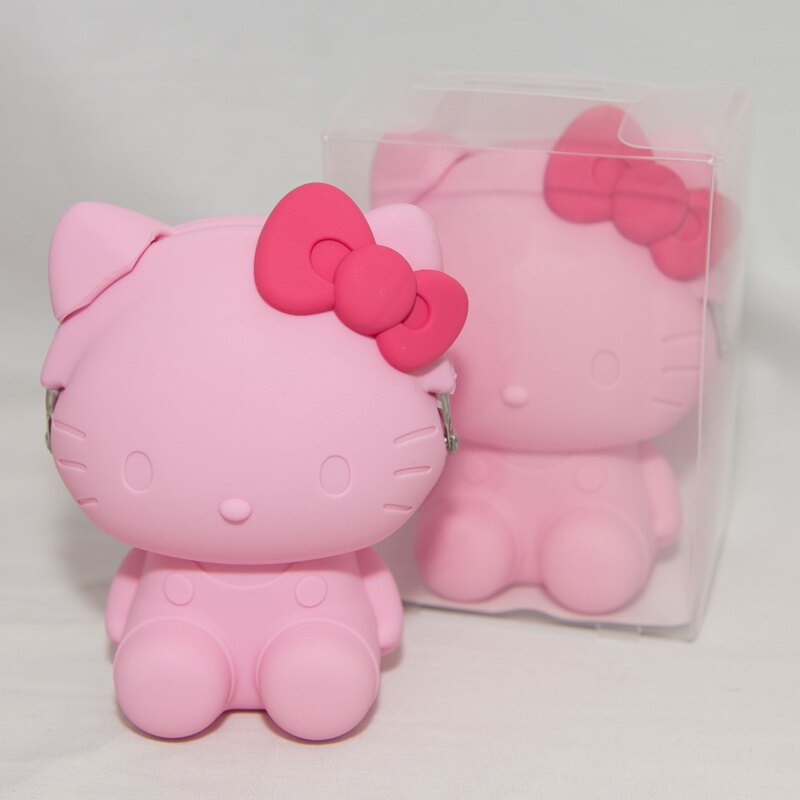 粉色 Hello Kitty 凱蒂貓造型 矽膠零錢包 mimi POCHI 日本正版