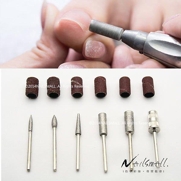 美甲磨甲機專用 磨頭配件組(12入) 打磨修磨水晶甲 凝膠甲 手指保養去角質死皮 卸甲工具