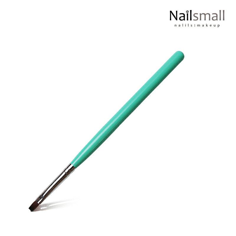 粉綠6號木桿凝膠筆平頭筆 美甲彩繪凝膠筆
