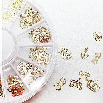 12格金屬薄片圓盤組合 #49 美甲金屬貼片