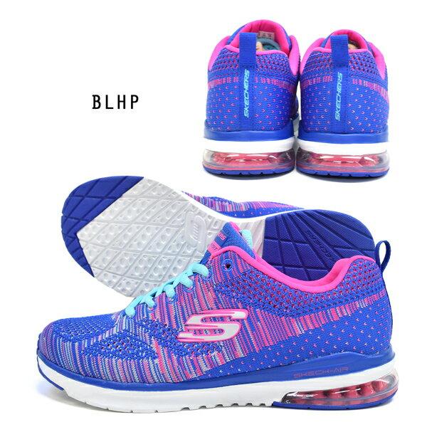 【米迪美國時尚小舖】SKECHERS (女)Air Infinity 粉紅寶藍編織 12113 BLHP