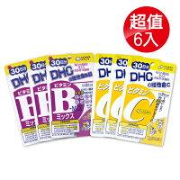 (6入組) 專品藥局 DHC 維他命C/ 維他命B群 60粒X6-專品藥局-3C特惠商品