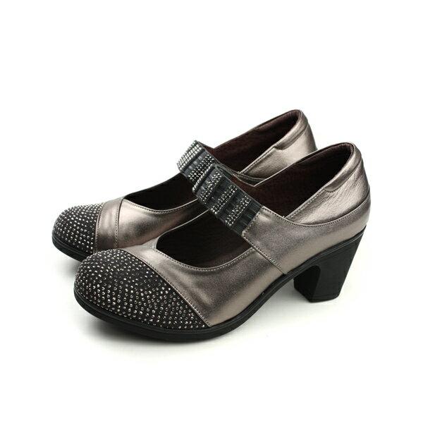 HUMAN PEACE:HUMANPEACE娃娃鞋粗跟皮質時尚古銅色女鞋2933no009