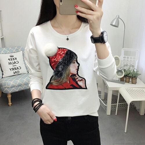 繡花衛衣T恤(3色M~4XL)【OREAD】 2