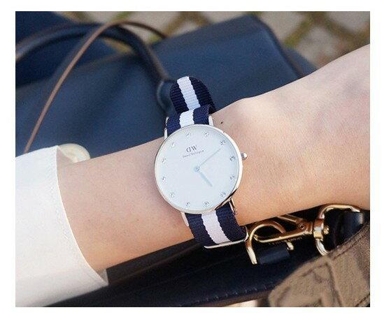 瑞典正品代購 Daniel Wellington 0953DW  玫瑰金 尼龍 帆布錶帶 女錶手錶腕錶 26MM 5