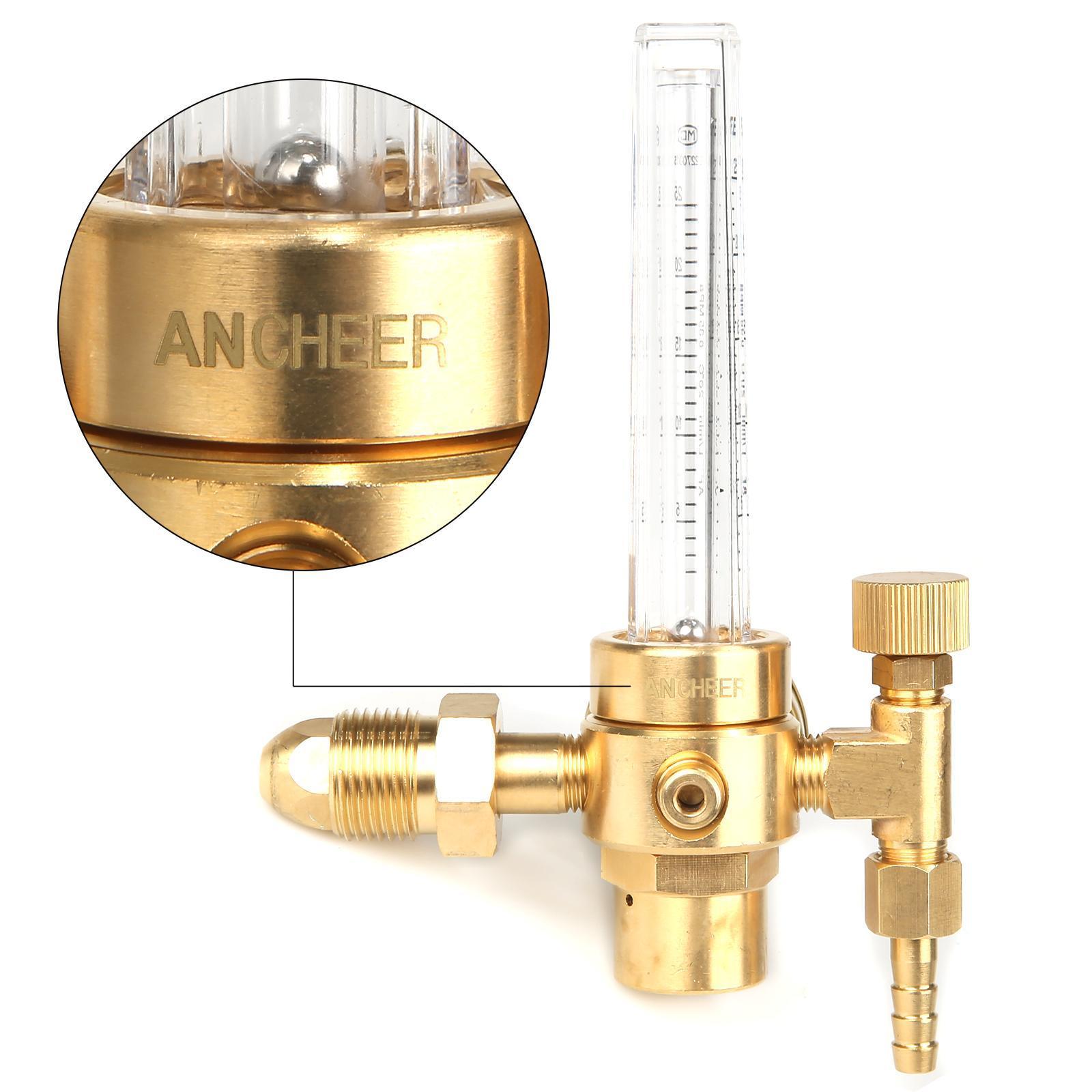 Universal Copper Argon CO2 Regulator Flowmeter Gas Pressure Gauge 1