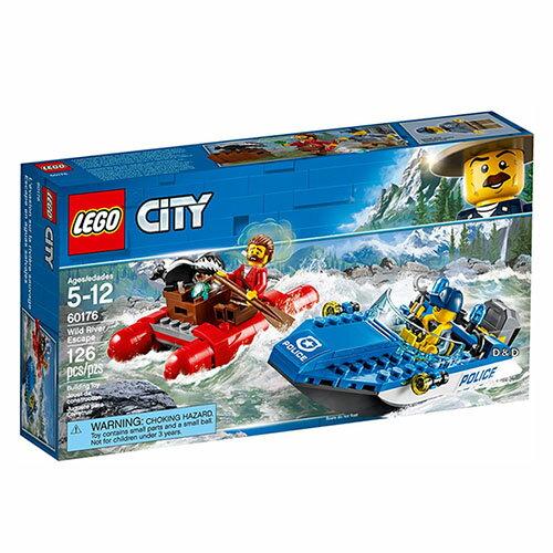 樂高積木LEGO《LT60176》2018年CITY城市系列-急流大逃亡