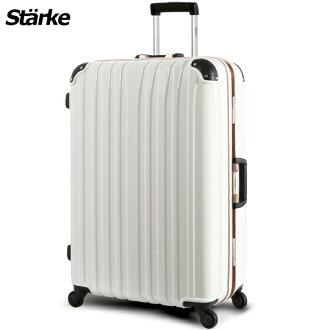 E&J【008007-01】starke 德國設計 28吋 鏡面鋁框硬殼行李箱 D-1系列 -白色金框