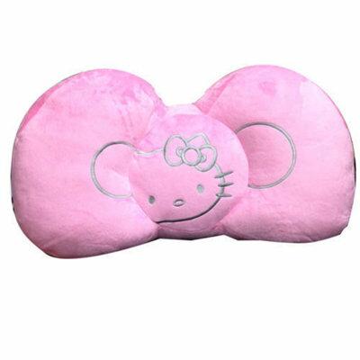 【真愛日本】12071800002蝴蝶結大抱枕-粉HelloKitty凱蒂貓靠枕坐墊正品