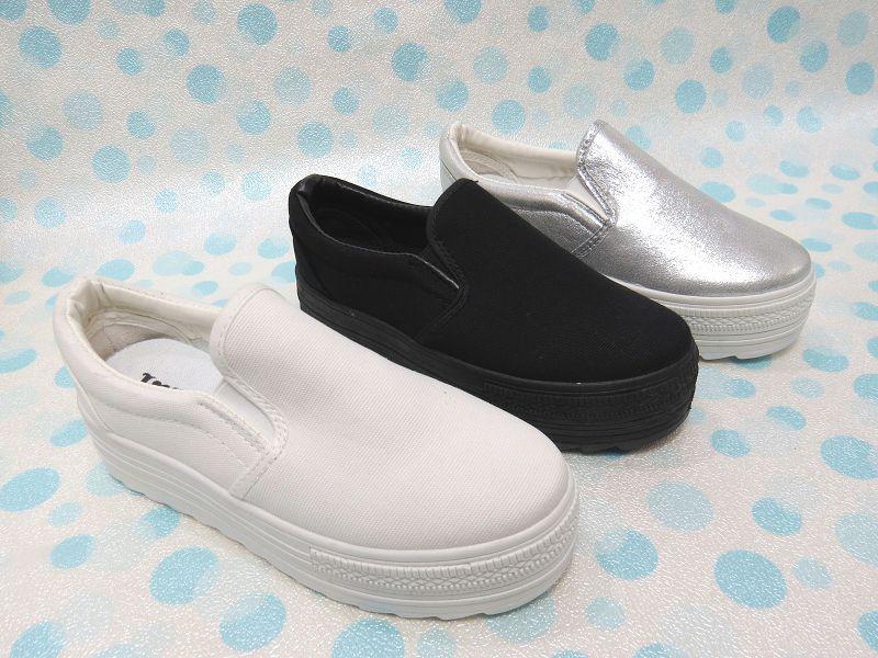 ☆韓國風厚底圓頭包鞋01-669(銀/白/黑)☆【彩虹屋】現+預