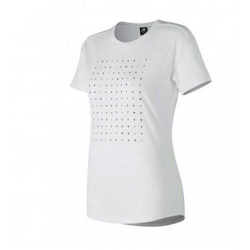 NewBalance女裝短袖休閒247系列字母弧形下擺白【運動世界】AWT81515WT
