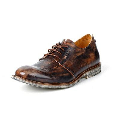 短靴真皮繫帶靴子-英倫時尚刷色商務男靴2色73kk55【獨家進口】【米蘭精品】