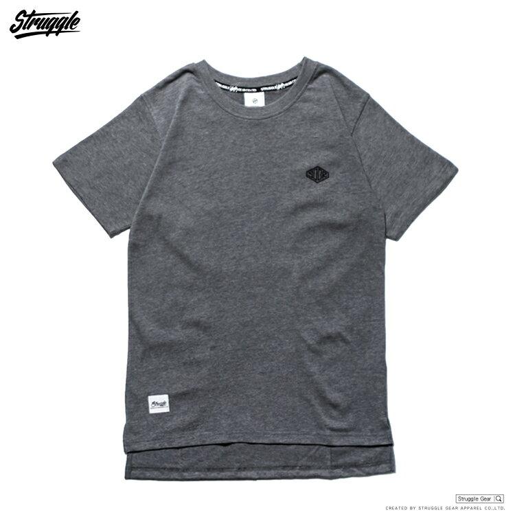 【StruggleGear】刺繡SCGR開岔長版TEE「深灰色」81611