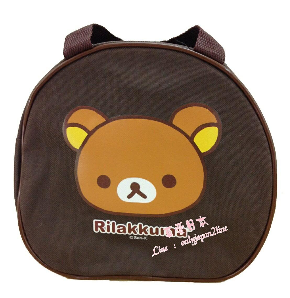 【真愛日本】16081600004手提便當袋-懶熊臉    SAN-X 懶熊 奶妹 奶熊 拉拉熊  手提袋  外出袋