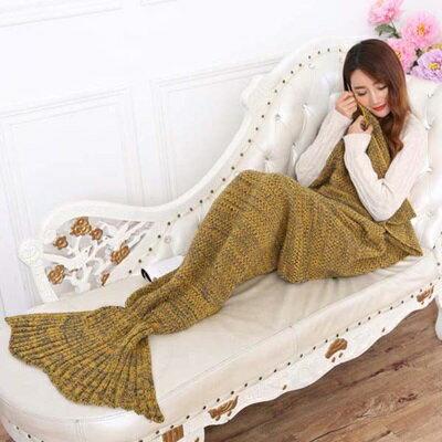 ★毛毯 懶人毯-人魚尾巴仿羊絨針織毯子7色73pp489【獨家進口】【米蘭精品】 1