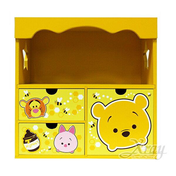 X射線【C383385】Tsum小熊維尼WinniethePooh花邊收納櫃,置物櫃收納櫃收納盒抽屜收納盒木製櫃木製收納櫃收納箱桌上收納盒