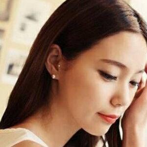 美麗大街【GE385】 熱銷 簡約珍珠耳釘耳飾