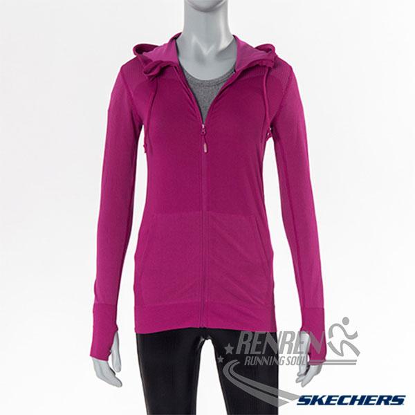 SKECHERS 女長袖外衣(紫紅)  透氣保暖 輕量舒適 柔軟彈性