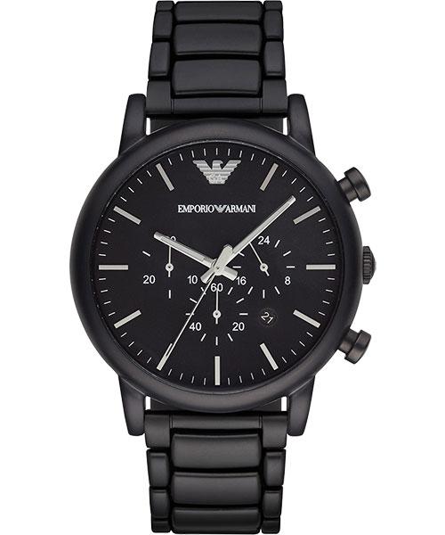 EMPORIO ARMANI/AR1895紳士計時腕錶/黑面46mm