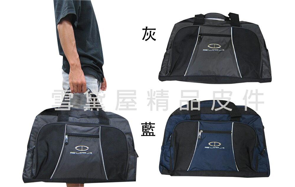 ~雪黛屋~RUFA 旅行袋 袋中容量髒濕衣物分離防水尼龍布壓扁收納手提肩背斜側背附活動型可