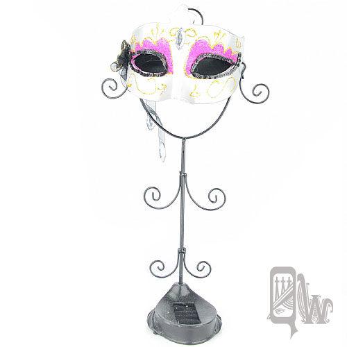 【Barocco Nuts】[飾品架]歌劇魅影-面具系列:銀雪白天鵝 魅艷桃-薄紗鑽(首飾架/戒指架/項鍊架/耳環架/飾品架/吊飾架/手環架)
