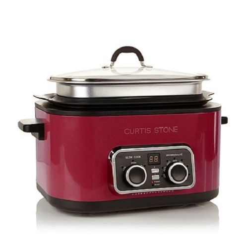 Curtis Stone 5 in 1 Ultimate Multicooker 6 Qt Non Stick With Lid 1