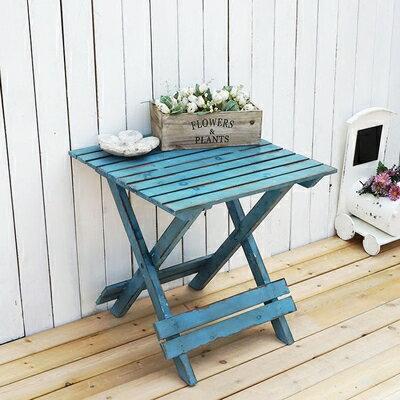 法式鄉村做舊小方桌花架置物架 酒吧咖啡店鋪櫥窗展示架園藝雜貨1入