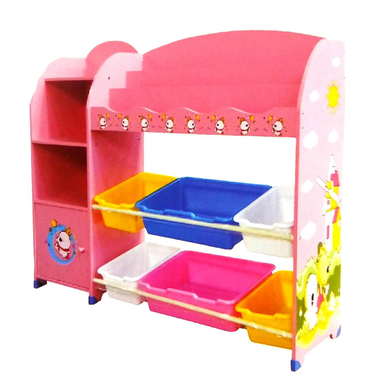 EMC兒童玩具收納書架(米色、粉紅色)【德芳保健藥妝】預購