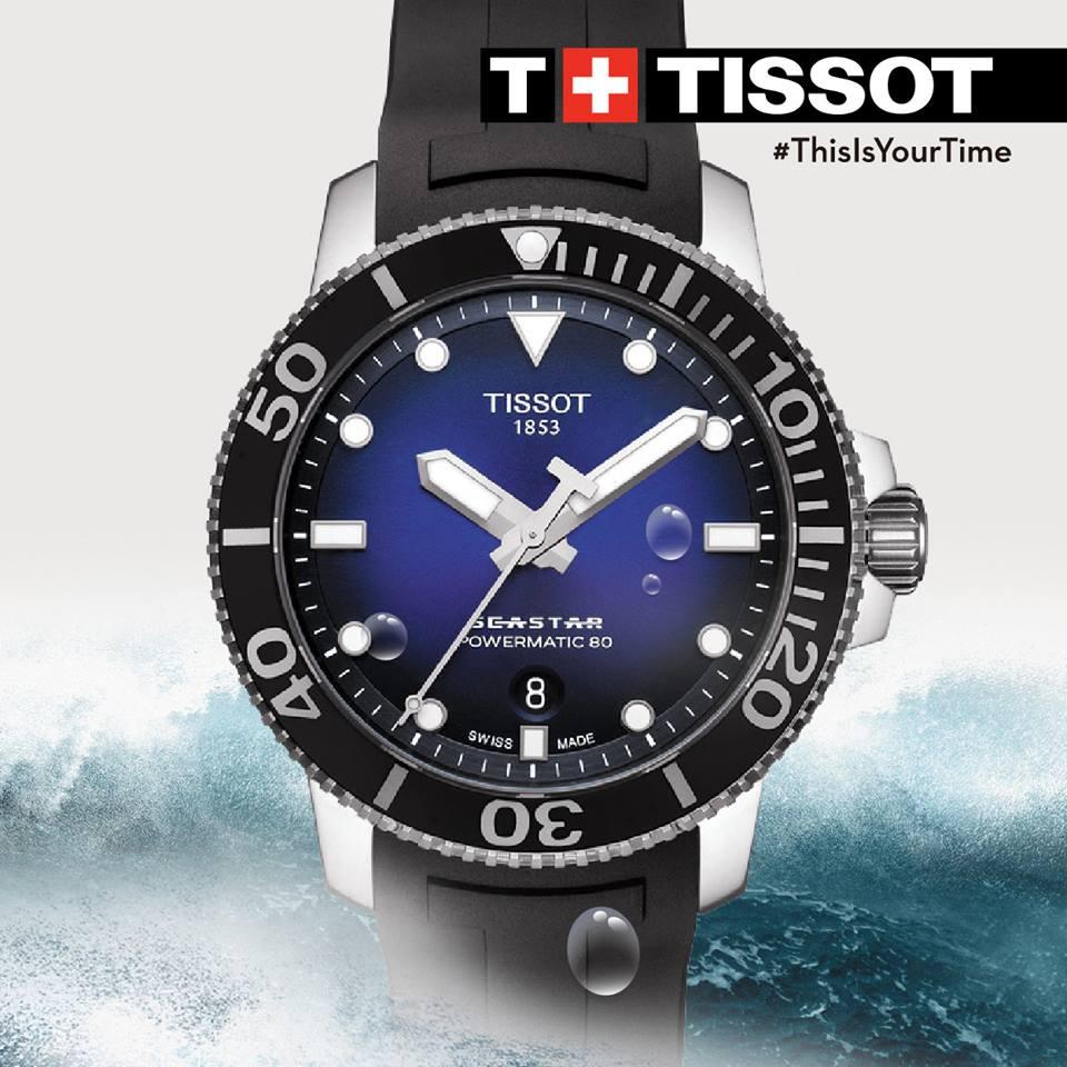 TISSOT 天梭 T1204071704100 Seastar 1000 陶瓷圈 海洋之星300米潛水機械錶 黑 藍 43mm【8 / 15前↘領券再9折,優惠券碼: 2008CP2000B 】 0