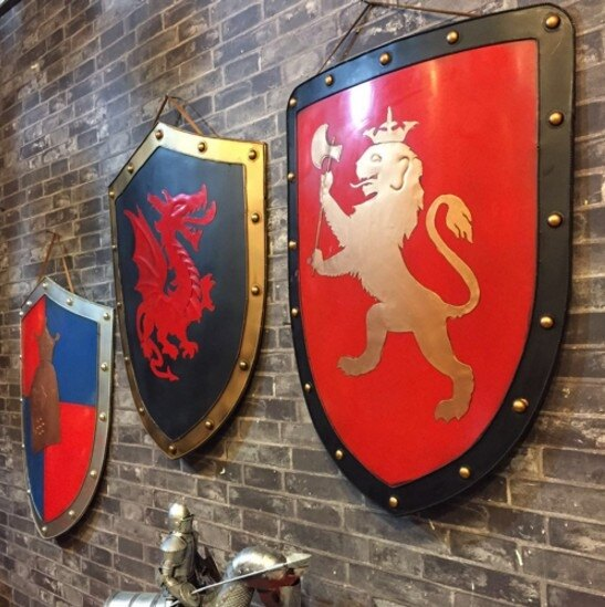 [協貿國際]歐洲中世紀盾牌掛件1入