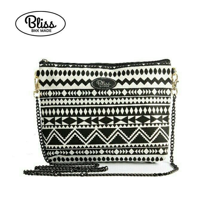 【正版】泰國BLISS BKK包手拿包側背包斜背包-黑白條紋A  (4款背帶可選) 影片實拍 X RUNWAY FASHION ICON