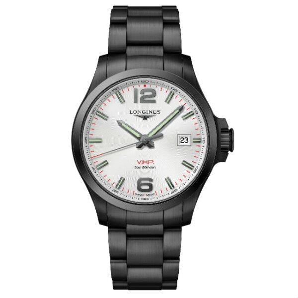 LONGINES浪琴錶L37262766征服者系列VHP超精準石英萬年曆腕錶白面43mm