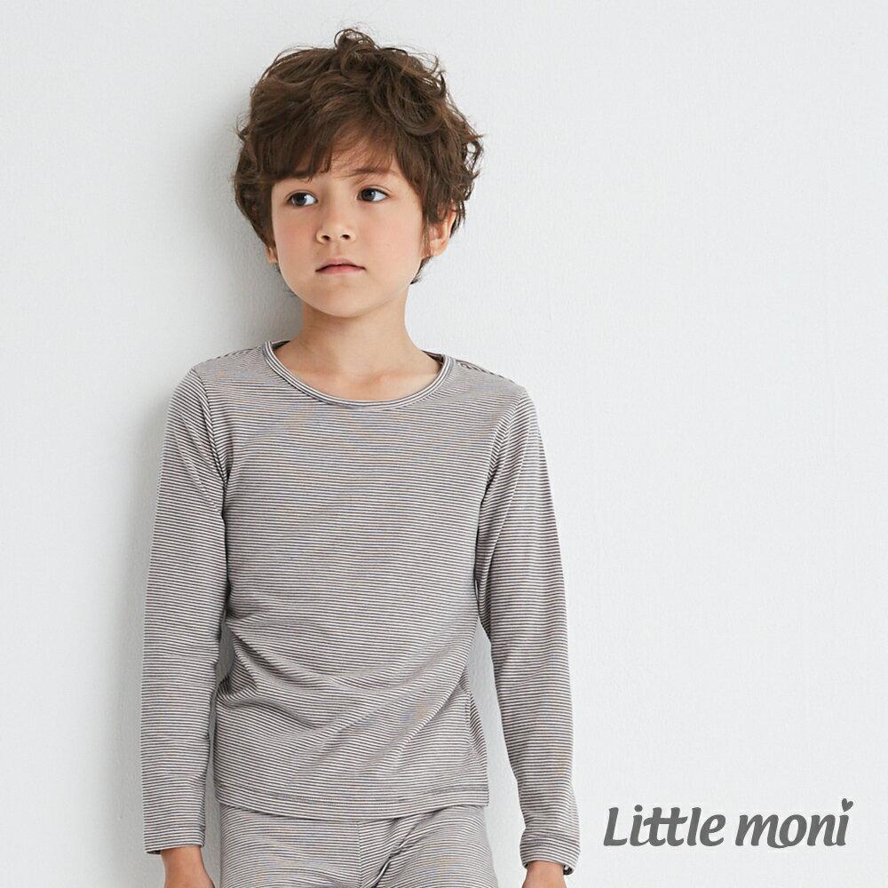 Little moni 發熱紗圓領上衣-灰色(好窩生活節) 1
