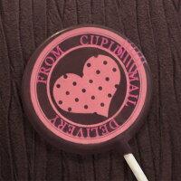 本命巧克力、義理巧克力推薦到情人節送禮小物-粉紅愛心巧克力棒棒糖-雙圓框愛心 (單品)就在KREATIVE CHOCOLATE推薦本命巧克力、義理巧克力