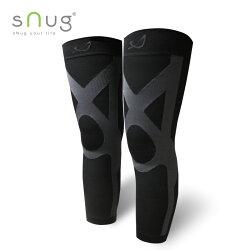 Snug 運動壓縮全腿套-黑灰  一般款/止滑款 羽嵐服飾