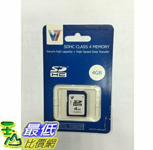 [106現貨] V7 SDHC 4gb class 4 記憶體 t116