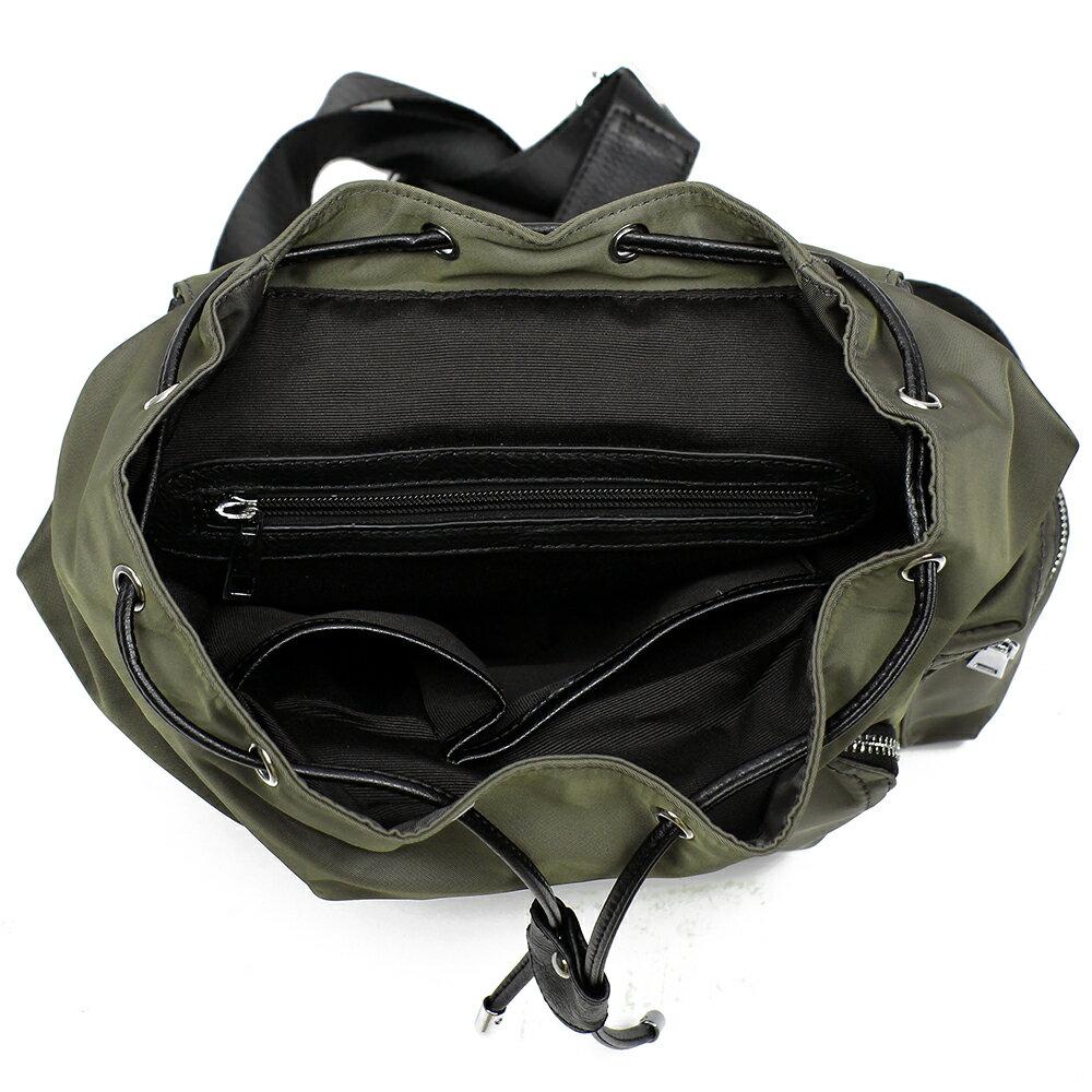 【BEIBAOBAO】倫敦學院防水布配真皮後背包(共兩色:時尚黑) 8
