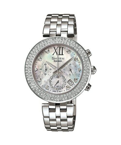 CASIO SHEEN SHE-5518D-7A極致星燦時尚腕錶/白色33mm