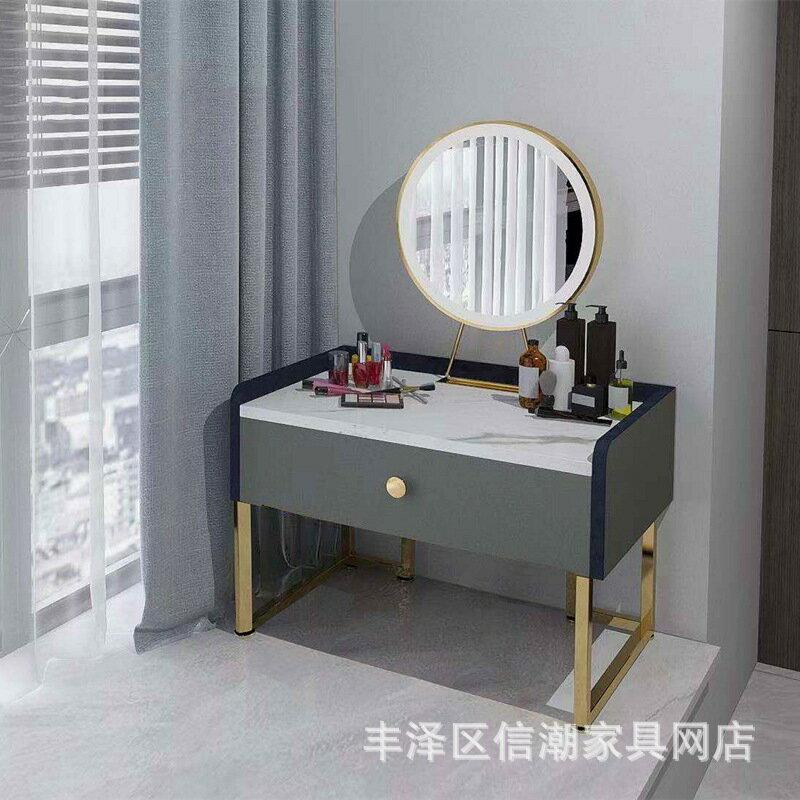 網紅ins風迷你40化妝臺飄窗梳妝臺 臥室書桌現代簡約簡易單人小型