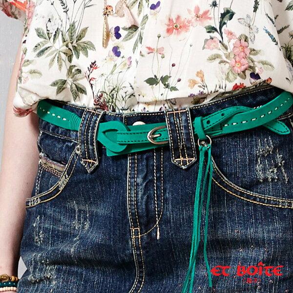 【精選配件】經典麂皮造型細皮帶(綠)-BLUEWAYETBOiTE箱子