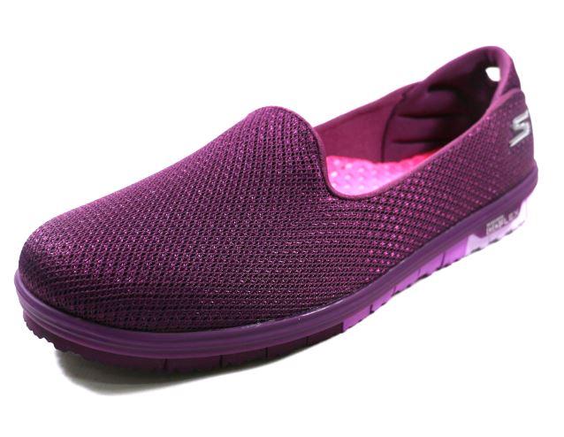 SKECHERS (女) 全新健走系列GO MINI FLEX WALK - ADMIRE 走路 健走 休閒 - 14007PUR 紫[陽光樂活]