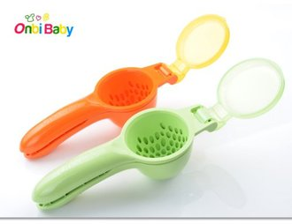 美國 Onbi Baby 歐比寶貝 副食品擠壓器 攪拌器 小兒機 橘色/綠色 *夏日微風*