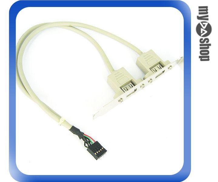 《3C任選三件88折》機殼用 2port USB 擴充背板傳輸線 介面轉接板 (12-287)