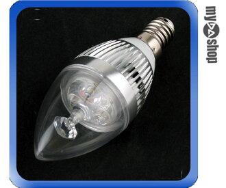 《DA量販店》全新 E14 3W LED 水晶燈 蠟燭燈 壁燈 小螺旋燈 超省電燈泡 白光(17-1455)