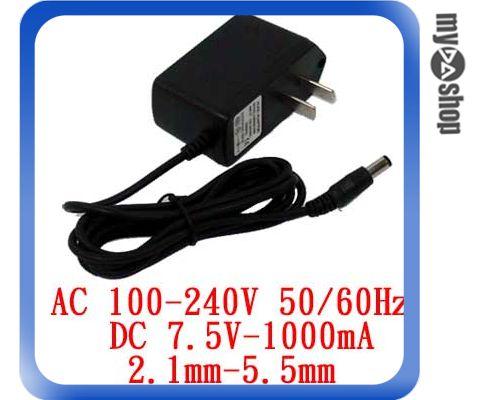 <br/><br/>  《DA量販店F》電子式 AC 110~240V to DC 7.5V 1000mA 內徑2.1 外徑5.5 變壓器(19-004)<br/><br/>