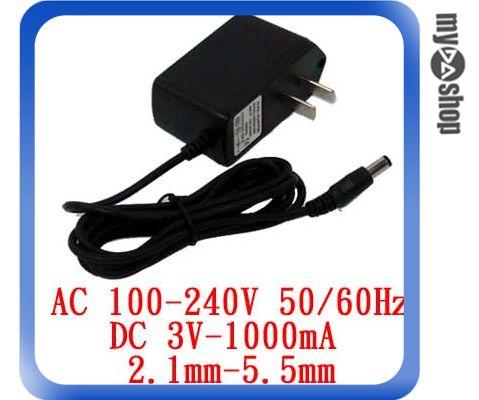 《DA量販店F》電子式 AC 110~240V to DC 3V 1000mA 內徑2.1 外徑5.5 變壓器(19-007)