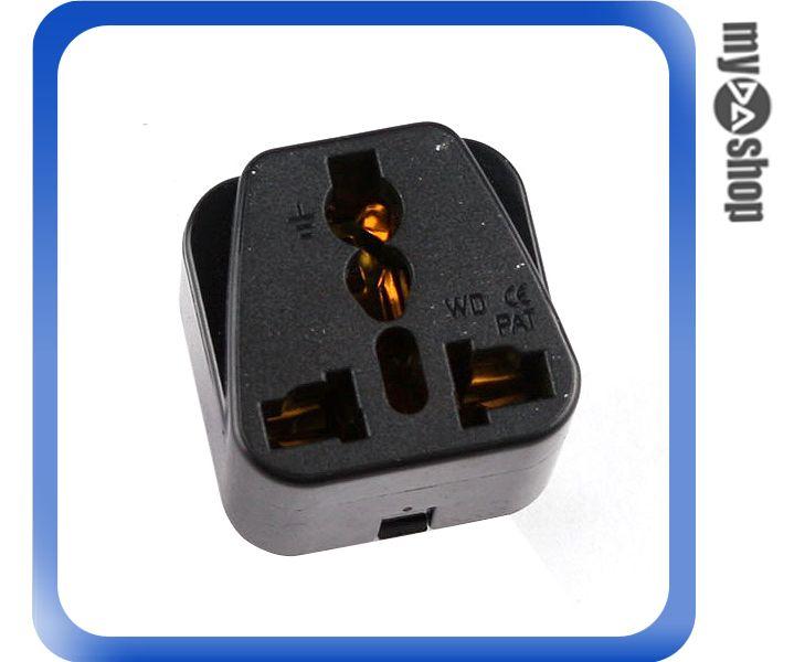 《DA量販店》全新 南非 10A 轉換插頭 3插腳 插頭 轉接頭 黑色(19-317)