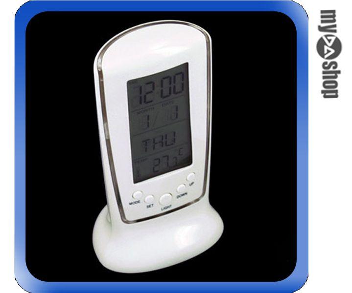 《DA量販店G》全新 藍光 背光LED 數位 電子 鬧鐘 時鐘 精巧別緻 具萬年歷功能(22-564)