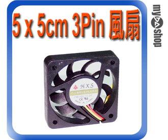 《DA量販店A》全新 散熱器用 5 x 5cm 散熱風扇 小3pin接頭 DC 12V 油封軸承 (23-043)
