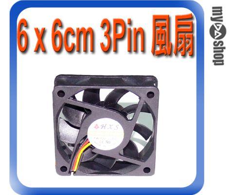 《DA量販店A》全新 散熱器用 6 x 6cm 散熱風扇 小3pin接頭 DC 12V 油封軸承 (23-044)